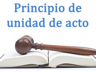 Principio de unidad de acto