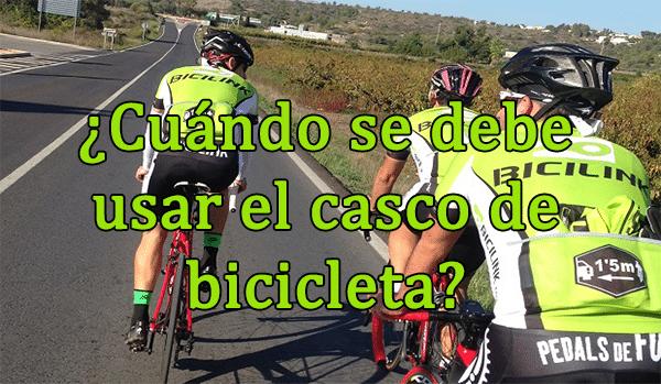 Cuando usar el casco de bicicleta