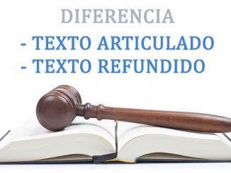 Texto articulado y Texto refundido