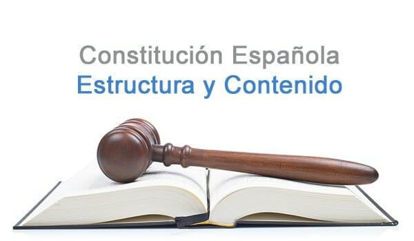 Constitución Española De 1978 Estructura Contenido Y