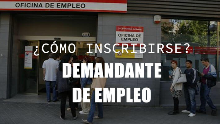 inscribirse demandante de empleo